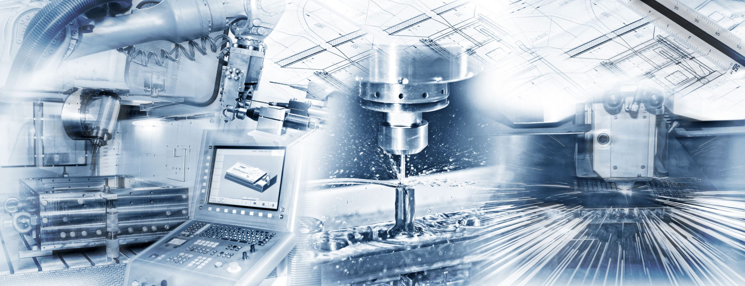 Duretec production with cnc machine, drilling and welding and construction drawing in industrial operation.