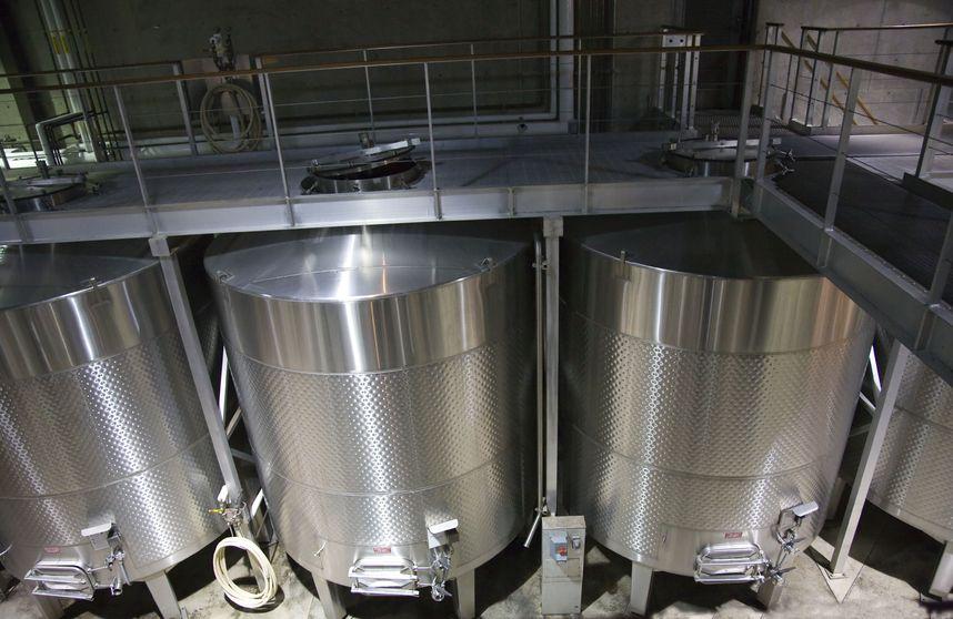 Duretec white wine staniless steel tanks napa californiatrademarks obscured